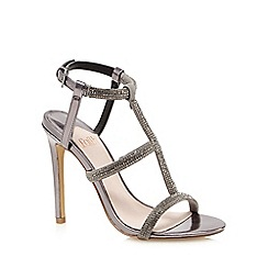 Faith - Metallic studded high sandals