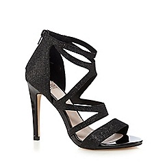 Faith - Black 'Lionel' glittery high sandals