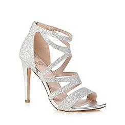 Faith - Silver 'Lionel' glittery high sandals