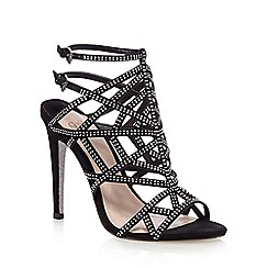 Faith - Black studded high sandals
