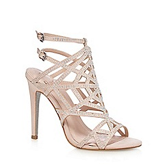 Faith - Pale pink studded high sandals