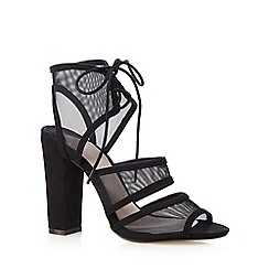 Faith - Black mesh high heeled sandals