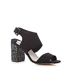 Faith - Black 'Lauryn' block high sandals