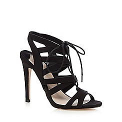 Faith - Black lace cutout heels