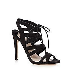 Faith - Black lace cutout heels