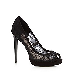 Faith - Black 'Lassie' peep toe high court shoes
