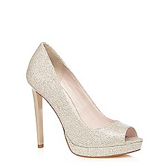 Faith - Gold 'Lassie' peep toe court shoes