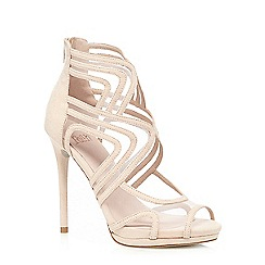 Faith - Light pink 'Lulu' suedette mesh high heeled sandals