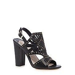Faith - Black 'Latoya' studded sandals