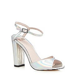 Faith - Silver iridescent high sandals