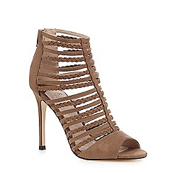 Faith - Taupe 'Lady' plaited strappy sandals