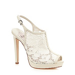 Faith - White 'Led' lace sandals