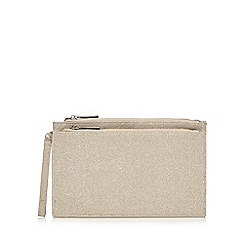 Faith - Gold 'P-Cadles' clutch bag