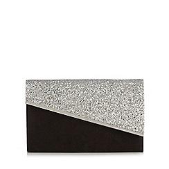 Faith - Silver glitter clutch bag