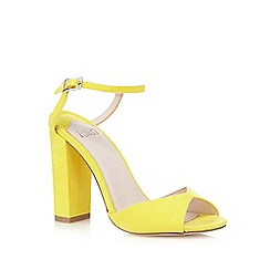 Faith - Yellow 'Lenny' suedette sandals