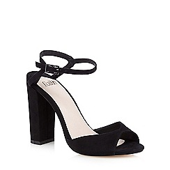 Faith - Black 'Lenny' suedette sandals