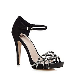 Faith - Black diamante high sandals