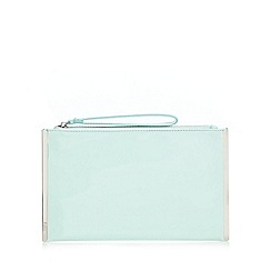 Faith - Light green patent clutch bag