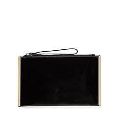 Faith - Black patent clutch bag
