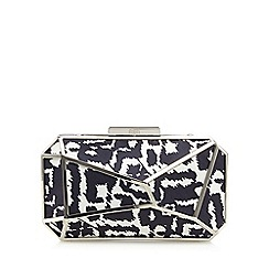 Faith - White metal suedette clutch bag