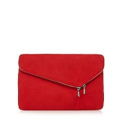 Faith - Red 'P-Cadle' clutch bag