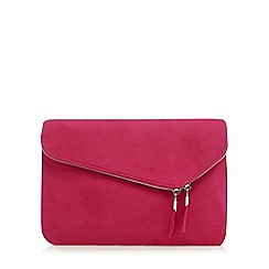 Faith - Pink 'P-Cadle' fold over clutch bag