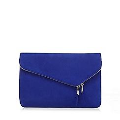 Faith - Blue 'P-Cadle' fold over clutch bag