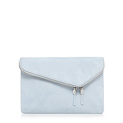 Faith - Light blue fold over clutch bag