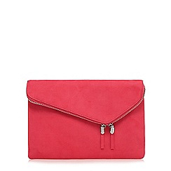 Faith - Bright pink fold over clutch bag