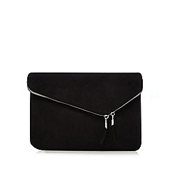 Faith - Black 'P-Cadle' fold over clutch bag