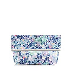 Faith - Multi-coloured floral print clutch bag