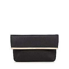 Faith - Black metal trim clutch bag