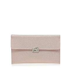Faith - Pink glitter clutch bag
