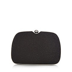 Faith - Black glitter clutch bag