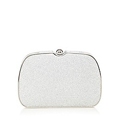 Faith - Silver glitter clutch bag