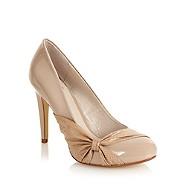 womens nude colour court shoes