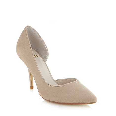 Faith - Taupe pointed high court shoes