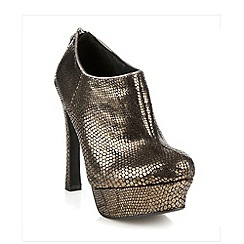 Faith - Metallic snakeskin effect high heel shoe boots