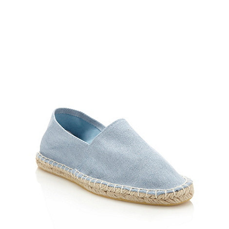 Faith - Light blue glitter canvas espadrilles