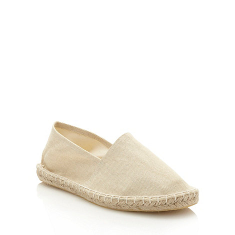 Faith - Cream glitter canvas espadrilles