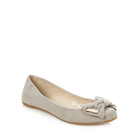Faith - Light grey knotted bow pumps