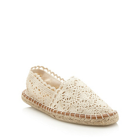Faith - Cream lace espadrilles