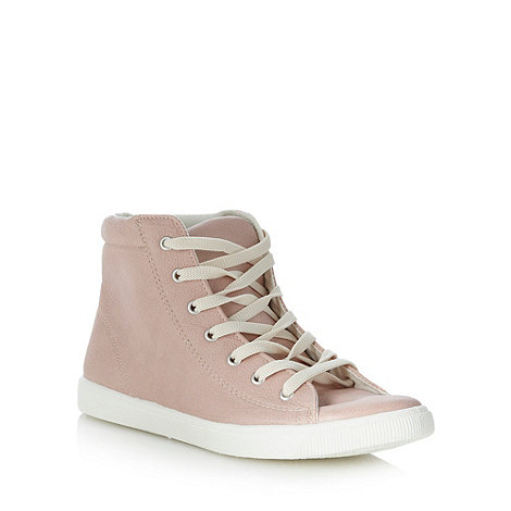 Faith - Light pink high top trainers