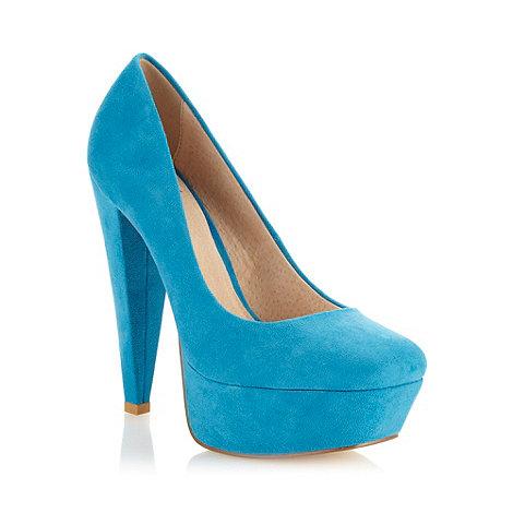 Faith - Blue high platform square court shoes