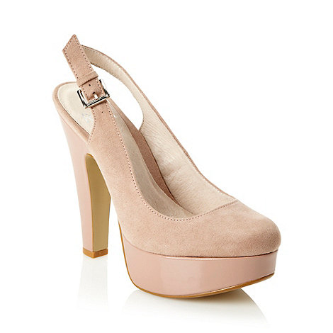 Faith - Pale pink slingback high platform court shoes