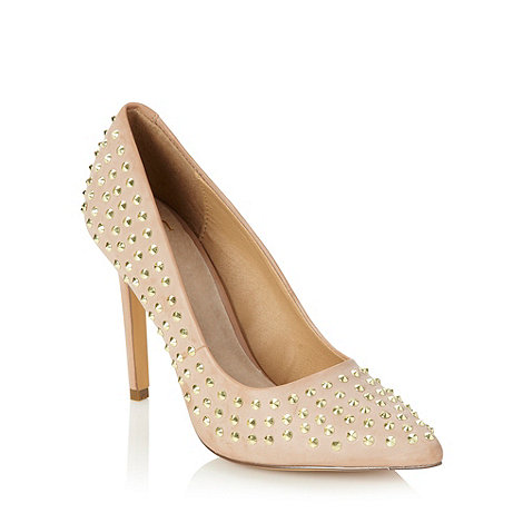 Faith - Natural studded high court shoes