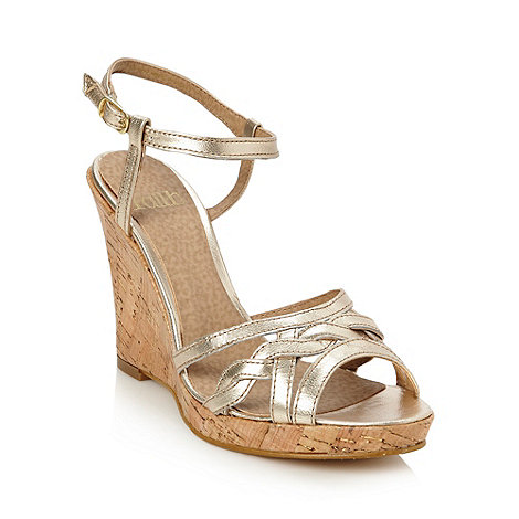 Faith - Gold high cork wedge sandals