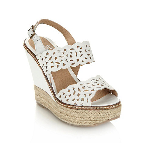 Faith - White cut out strap high heeled sandals