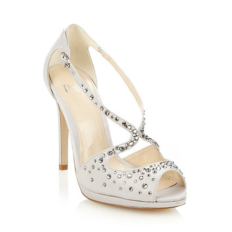 Faith - Silver rhinestone embellished high sandals