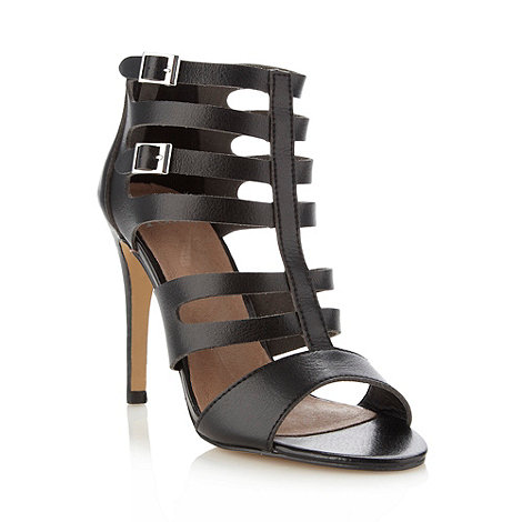 Faith - Black caged high sandals